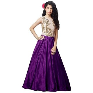 V KARAN woman's Embroidered Gown