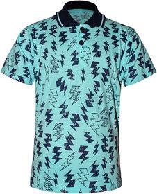 Kothari Boys Polo Neck Collar Kids T-Shirts Half sleeves Printed Cotton Turquoise Color(SSB2107)