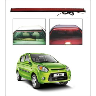 Trigcars Maruti Suzuki Alto 800 Type 2 Car Roof line LED Third Brake Light Kit Above Rear Windshield + Free Car Bluetooth