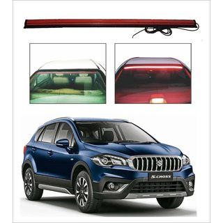 Trigcars Maruti Suzuki S Cross New Car Roof line LED Third Brake Light Kit Above Rear Windshield + Free Car Bluetooth
