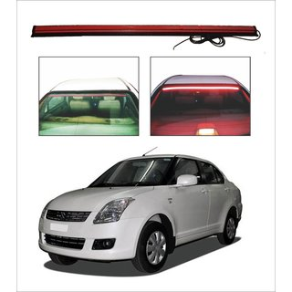 Trigcars Maruti Suzuki Swift Dzire 2008-2016 Car Roof line LED Third Brake Light Kit Above Rear Windshield + Free Car Bluetooth