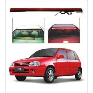 Trigcars Maruti Suzuki Zen Car Roof line LED Third Brake Light Kit Above Rear Windshield + Free Car Bluetooth