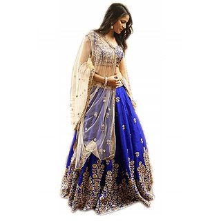 V KARAN Women's  Embroidered Lehenga Choli