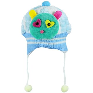 Tumble Light Pink Cute Patch Baby Winter Cap (12-18 Months)