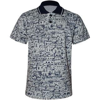 Kothari Boys Polo Neck Collar Kids T-Shirts Half sleeves Printed Cotton Grey Color(SSB2107)