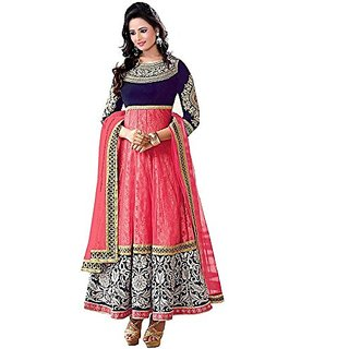 V KARAN Women's Embroidered Salwar  suit