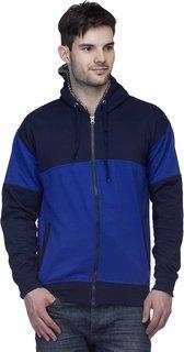 Lambency Men's Blue Hooded Sweatshirts