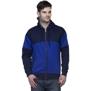 Lambency Men's Blue Hooded Sweatshirts