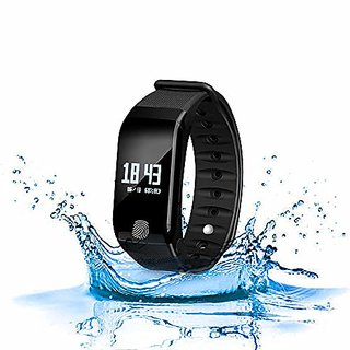 XECH Smart Watch Band Unisex Watch Heart Rate BP Monitor Fitness Band  Black  Smart Watches   Fitness Bands