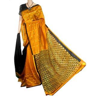 boutique saptaparni handloom cut work linen base with blouse pice