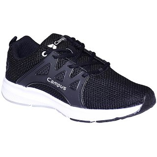 CAMPUS BLACK COLOR RUNNING / LIFESTYLE SPORTS SHOES FOR MEN