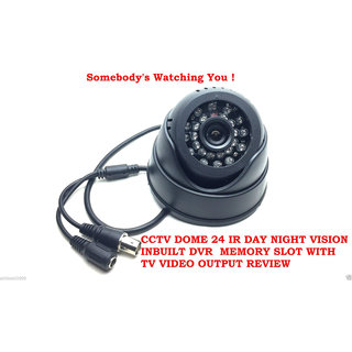 Finest Dome CCTV Camera With 32GB Card Support TV Out Feature  Night Vision Play Back