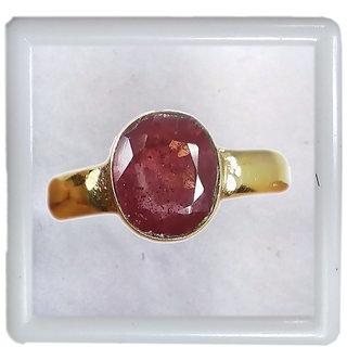 Natural 4.90 Ratti Ruby Manik Genuine Earth Mined Original Stone Panchdhatu Metal Adjustable Ring for Men Women and Girl