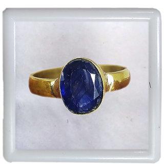 Stone 6 Ratti Blue Sapphire Neelam Ring Natural Genuine Earth Mined Original Adjusteble Ring for Men Panchdhatu Metal