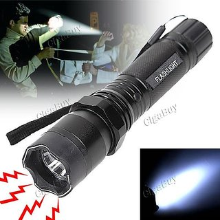 Rechargeable Self Defense Electric SHOCK Flashlight