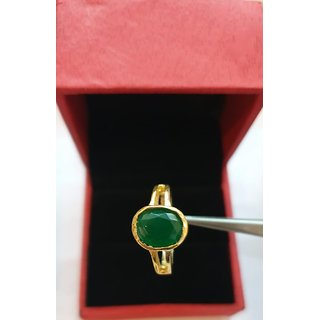 Natural Emerald panna Ring lab certified stone ring Jaipur Gemstone