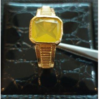 Pukhraj Ring Natural sapphire stone ring gold plated ring Jaipur Gemstone