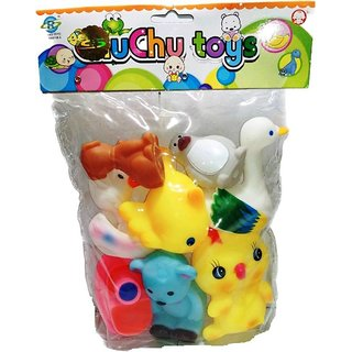 Shribossji Bathing Chuchu Animal Toys for Kids Bath Toy Bath Toy  (Multicolor)
