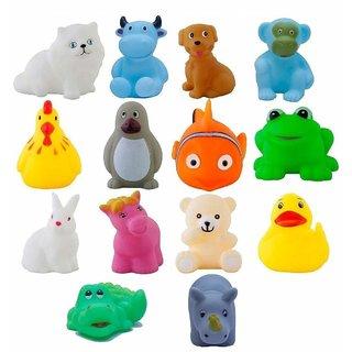 Cute Kids Choice Chu Chu Bath Toys for Baby Non-Toxic Toddler Set Multi Color (1 Set - 12 Pcs) Best Quality  Voice