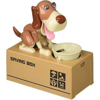 SHRIBOSSJI Dog Piggy Bank Robotic Coin Stealing  Munching Toy Money Bank Storage Box for Kids Children Coin Bank .