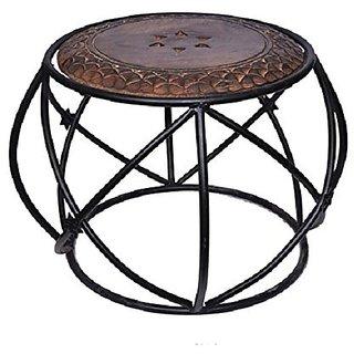 Shilpi Handicraft Brown Dholak Stool / gift item/ decorative item/ any where use