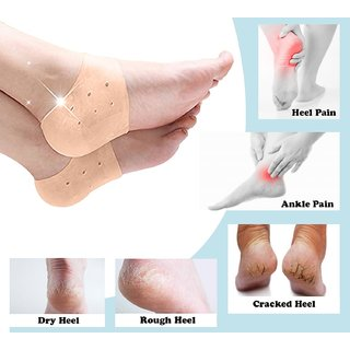 Silicone Gel Pad For Heel Swelling ,Dry Hard Cracked Heel Free Size Set of 1