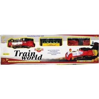 Shribossji Multicolor Track Train World With Light Big  (Multicolor)