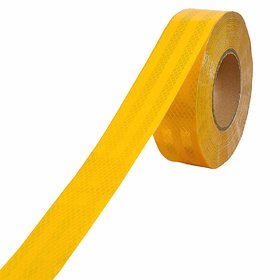 Reflective ECE 104 Compliant Government Approved Tape 2 inch x 5 Meter Lenght(Color Yellow) Tape Sticker