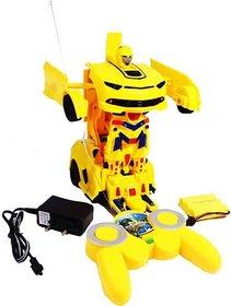 Shribossji Rechargeable Remote Control Transformer Robot Car