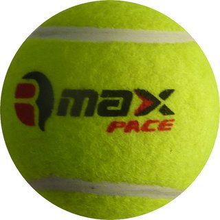 R-Max Green Cricket Tennis Ball Pace Heavy ( Pack Of 6 )