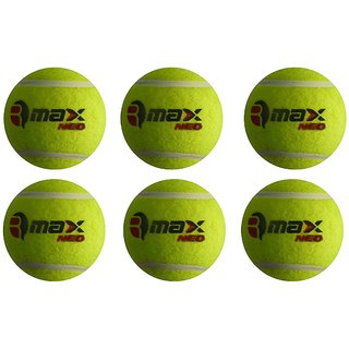 R-Max NEO Green Cricket Tennis Balls (Pack of 6)