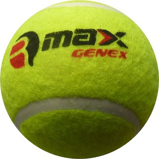 R-Max Genex Green Cricket Tennis Ball Heavy Weight ( Pack of 6 )