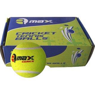 R-Max Genex Green Cricket Tennis Ball Light Weight ( Pack of 6 )