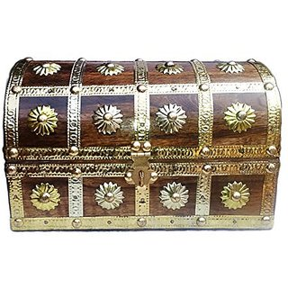 shilpi Traditional Jewelry Box with Brass Work