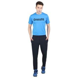 Nike Blue Polyester Lycra Track Pants