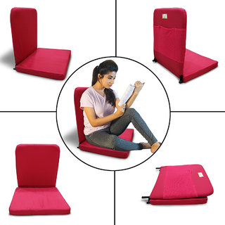 Kawachi Meditation and Yoga Floor Chair with back support - I83-Red