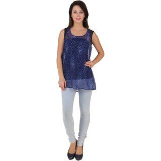 Voila Women's Chiffon Top (Blue_S)