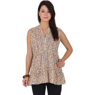 Voila Women's Cotton Blouse (Yellow_S)