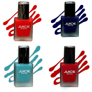 Juice Matte  Long Stay  Nail paint Set Of 4