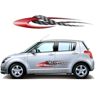 Spidy Moto 2 Side Car Graphics Body Vinyl Sticker for Swift