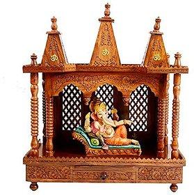 Shilpi Wooden Temple Mandir Foldable in Shessham Wood