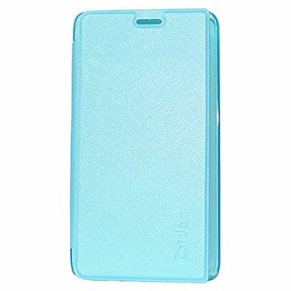Heartly Premium Luxury PU Leather Flip Stand Back Case Cover For HTC One E9+ E9 Plus A55 - Power Blue