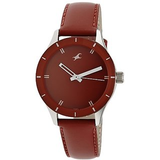 Fastrack Monochrome Analog Red Dial Womens Watch   6078SL06