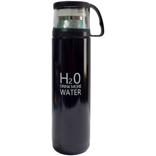 6th Dimensions H2O Stainless Steel Vacuum Cup - 500 ml (Black)