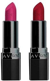 Avon True Color Perfectly Matte Lipstick (splendidly fuchsia - red supreme)