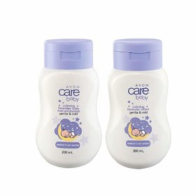 Avon Baby Care Calming Lavender Wash  Shampoo + Body Lotion (set of 2 of 200ml each)