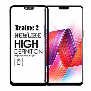 Oppo Realme 2  Black 5D Tempered Glass Standard Quality