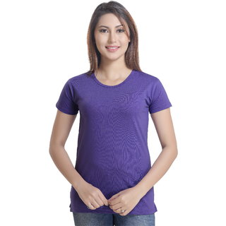 Lango Regular Fit Hosiery Blue Color T-shirt For Womens