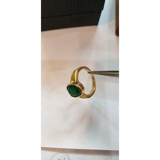 Emerald Ring Natural panna stone lab certified stone ring Jaipur Gemstone