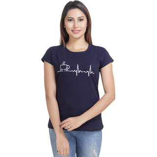 Lango Regular Fit Hosiery Navy Color T-shirt For Womens